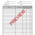 Sample-Exhibit-Division-of-Personal-Property-Schedule-Page-1